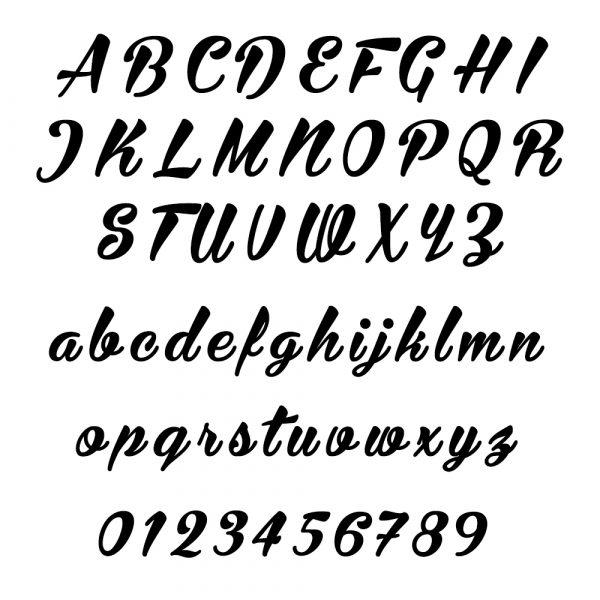 Curvy Font