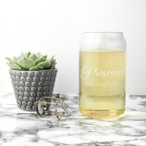 Personalised Bright Idea Can Glass