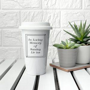 Personalised Loving Memory Ceramic Travel Mug