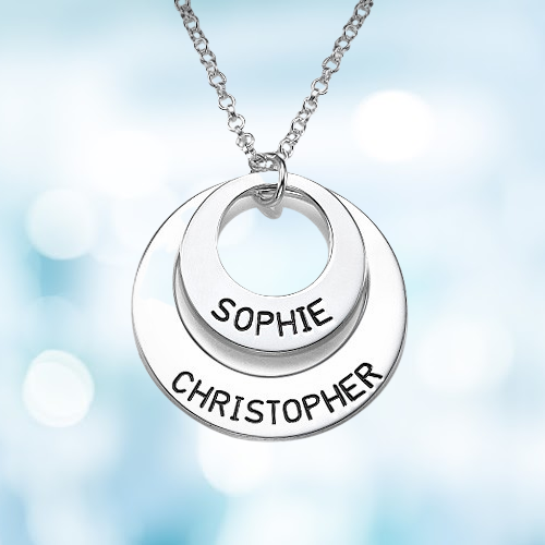 Personalised Circle Name Necklace