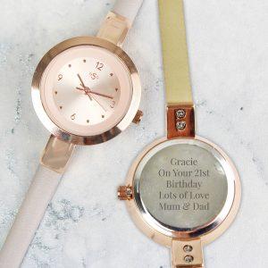 Personalised Rose Gold Ladies Watch