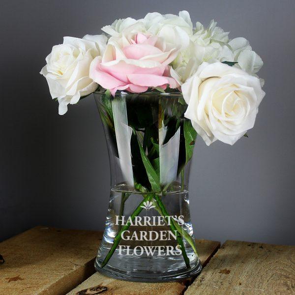 Personalised Bold Font Glass Vase