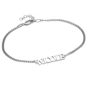 Silver Personalised Name Bracelet