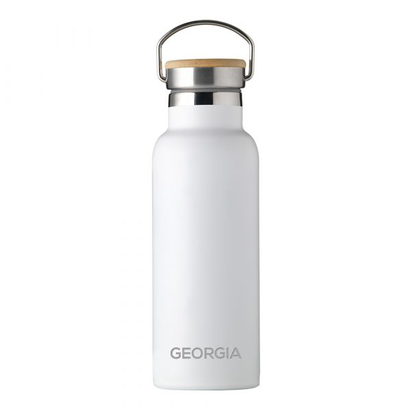 Personalised Insulated Bottle 17oz Bamboo Lid