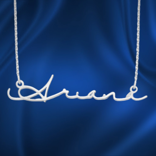 Personalised Name Necklace Infinity Style