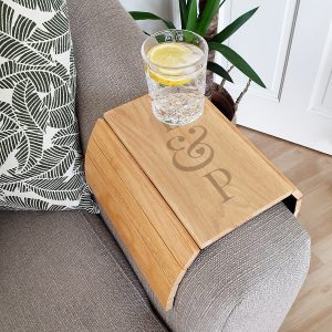Personalised Initials Wooden Sofa Tray