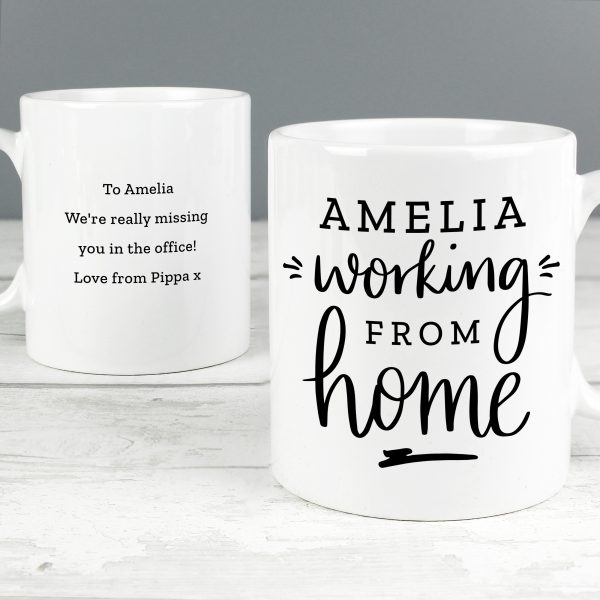 Personalised Working From Home Mug