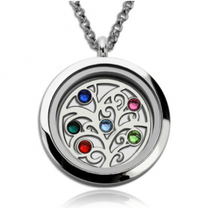 Family Tree Birthstone Locket