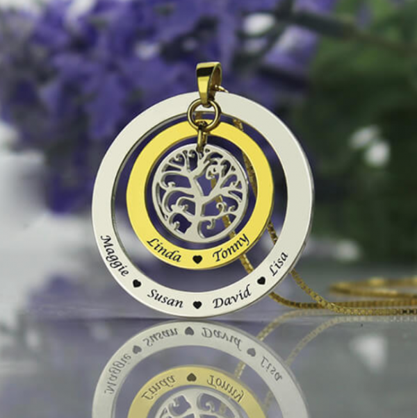 Circle Family Tree Necklace