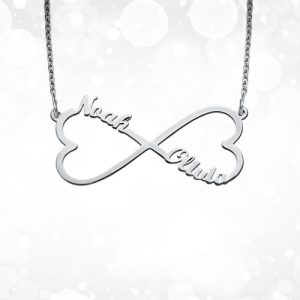 Infinity Heart Name Necklace