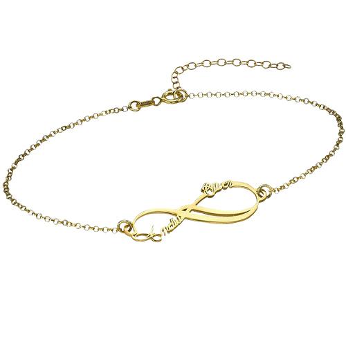 Gold Infinity Personalised Bracelet