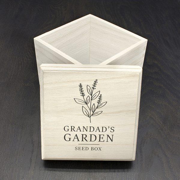 Personalised Engraved Seeds Box