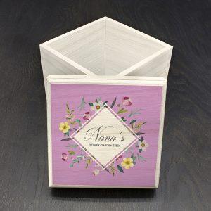 Personalised Floral Seeds Box