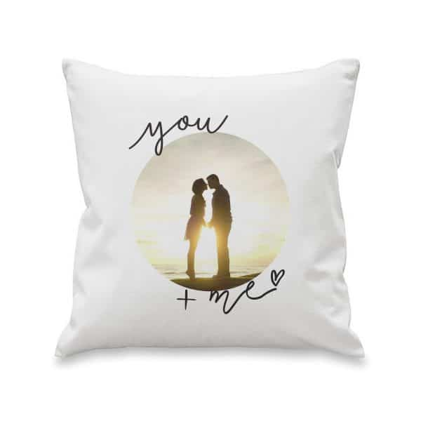 You & Me Photo Upload Cushion