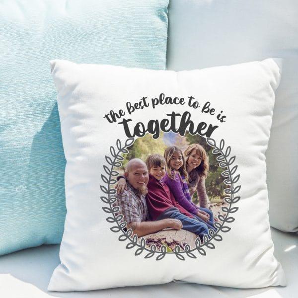 Better Together Photo Upload Cushion