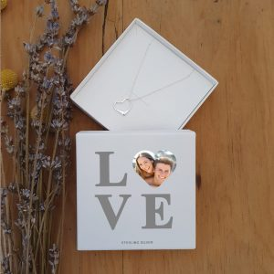 LOVE Photo Upload Heart Pendant