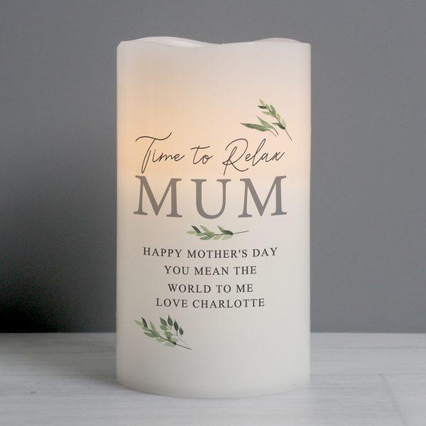 Personalised Botanical LED Candle