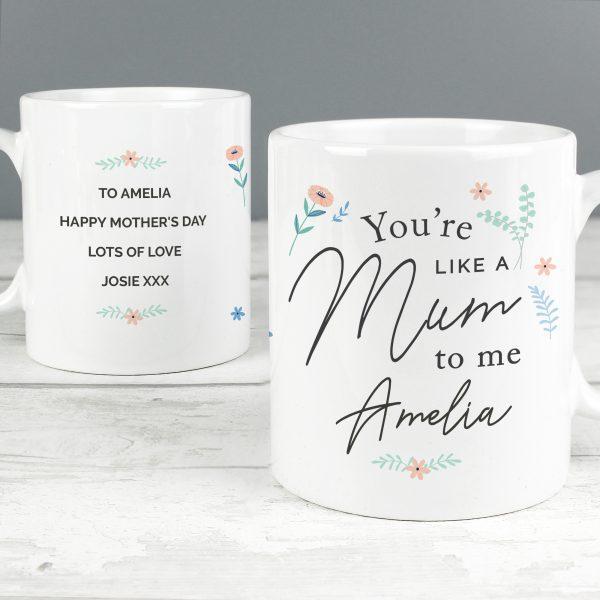 Personalised You're Like A Mum To Me Mug