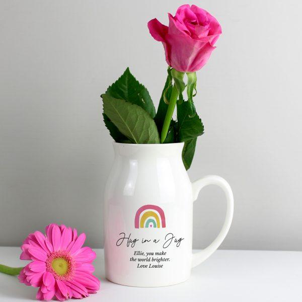 Personalised Rainbow Flower Jug