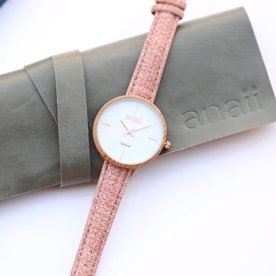 Handwriting Engraving Anaii Watch - Sweet Pink
