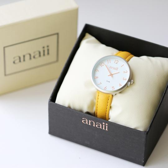 Handwriting Engraved Anaii Watch In Mellow Yellow