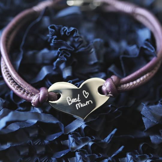 Handwriting Hearts Forever Bracelet Berry