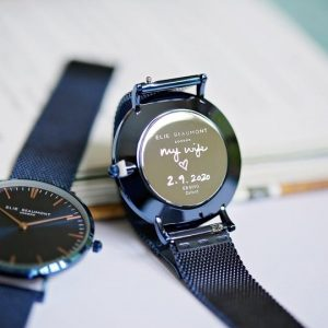 Own Handwriting Elie Beaumont Watch Electric Blue