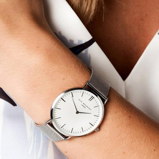 Own Handwriting Elie Beaumont Watch with Mesh Strap