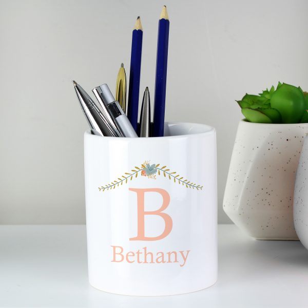 Personalised Floral Bouquet Ceramic Storage Pot