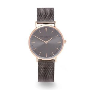 Own Handwriting Small Elie Beaumont Dark Grey Watch
