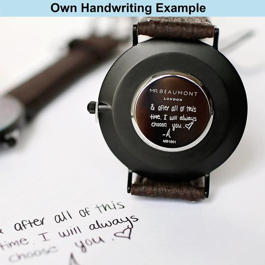 Own Handwriting Elie Beaumont Small Silver White Dial