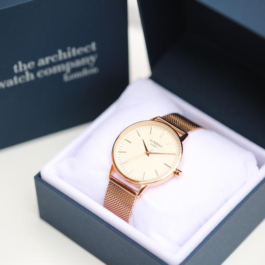 Ladies Architēct Watch - Rose Gold Strap