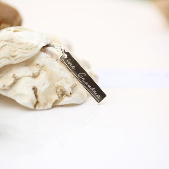 Sterling Silver Bar Necklace - Actual Handwriting