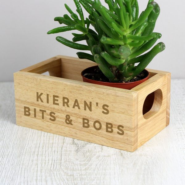 Personalised Bits & Bobs Mini Wooden Crate