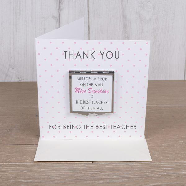 Card with Compact Mirror - Teacher