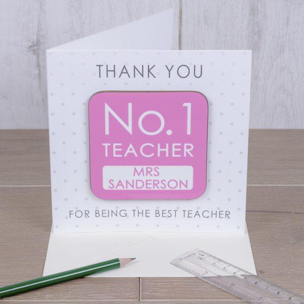 Coaster Card - No.1 Teacher