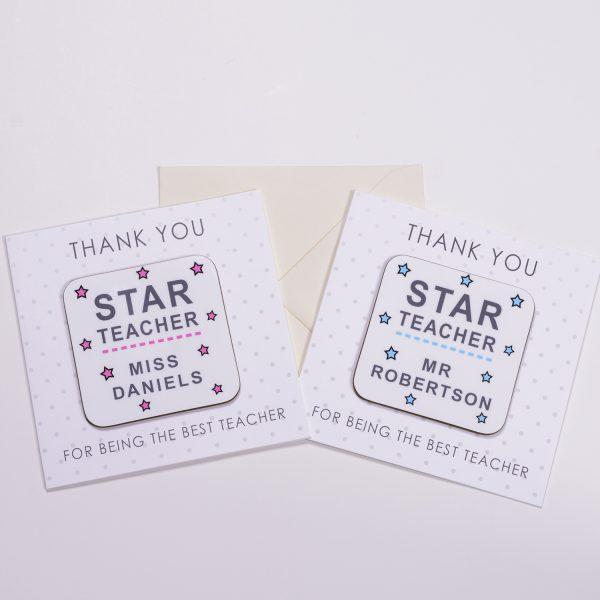 Coaster Card - Star Teacher