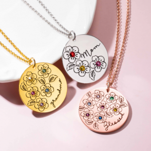 Birthstone Flower Necklace